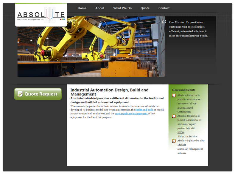 Absolute Industrial Management Inc. - Website