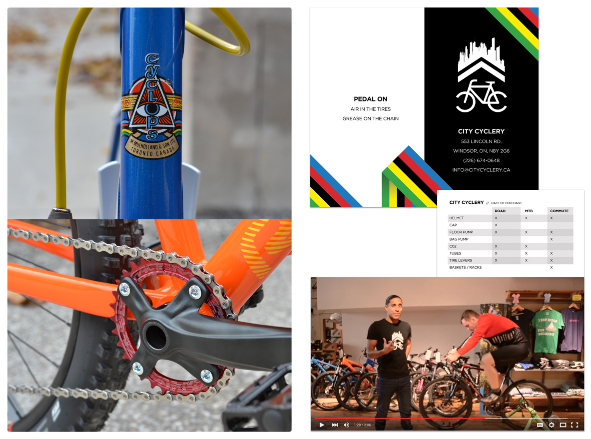 City Cyclery - Photography, Print Production & Video Production