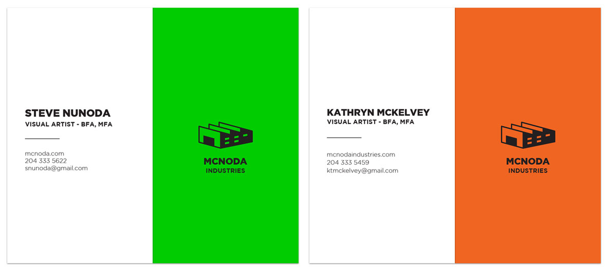 McNoda Industries - Business Cards
